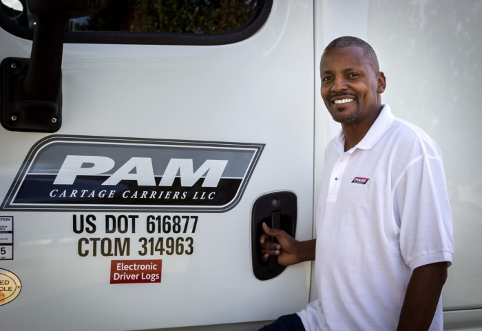 Melvin Banister, Owner Operator for PAM Cartage Carriers