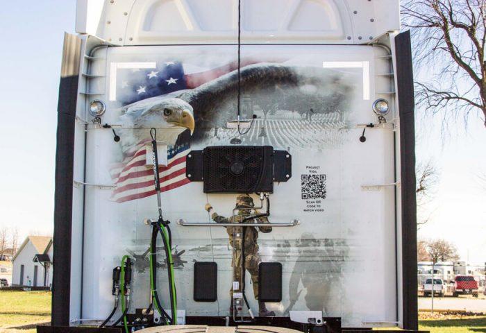 Bald Eagle Across the Flag