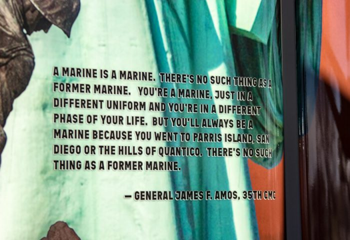 General Amos' quote