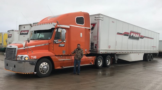 PAM Fall 2018 driver referral contest winner David Moncivais